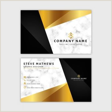 Business Cards Black And Gold Marble Business Card Template