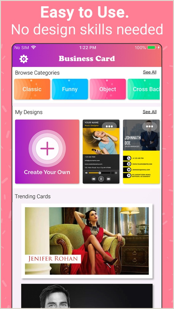Business Cards Design And Print Business Card Maker Creator App For IPhone Free Download