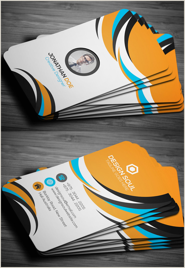 Business Cards Examples Professional Modern Business Cards Design 26 Creative Examples