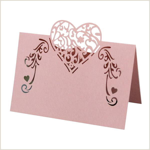 Business Cards For Construction Unique Christmas Simple Heart Shape Event Diy Decoupage Party Wedding Table Decoration Name Check In Celebration Place Card Solid 50mu Business Greeting