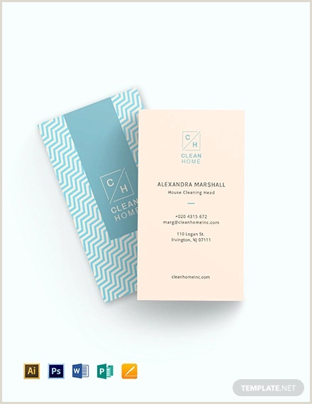 Business Cards For House Cleaning Examples 9 Cleaning Business Card Templates Pages Word Psd Ai