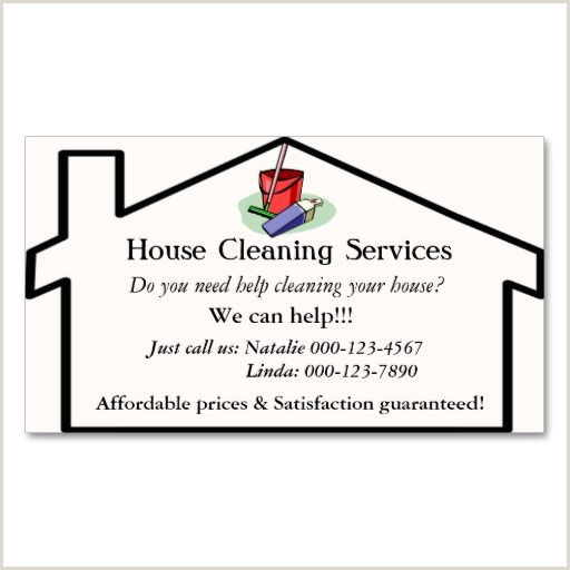 Business Cards For House Cleaning Examples House Cleaning Services Business Card Template