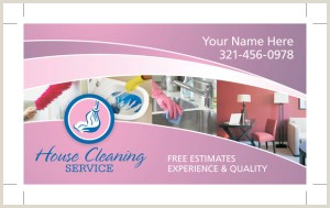 Business Cards For House Cleaning Examples Residential & House Cleaning Business Card Samples