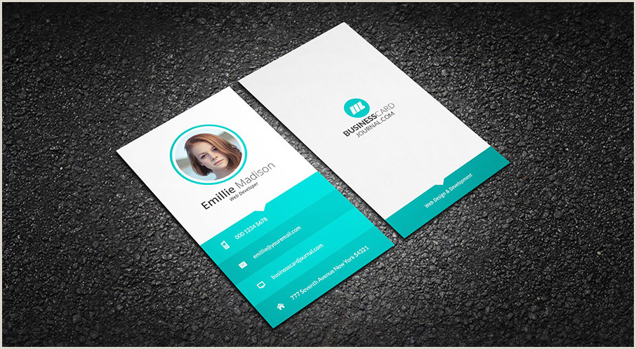 Business Cards For Web Developers Free Clean Web Developer Business Card Template