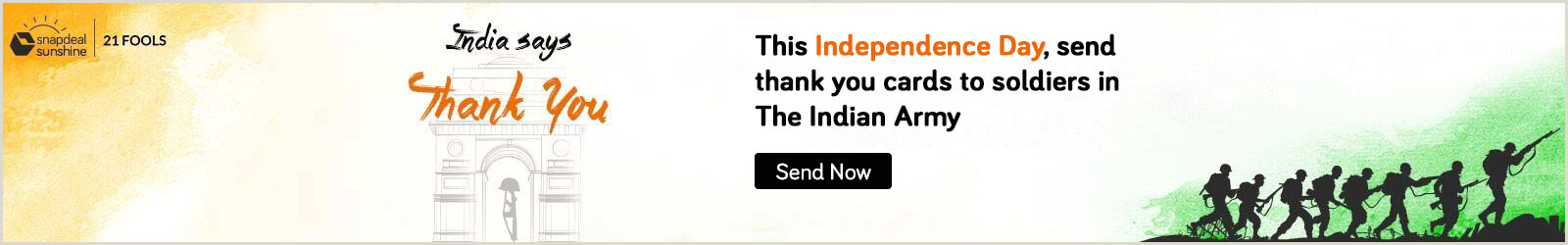 Business Cards India Celebrate 72 Years Of Independence Send Thank You Cards To
