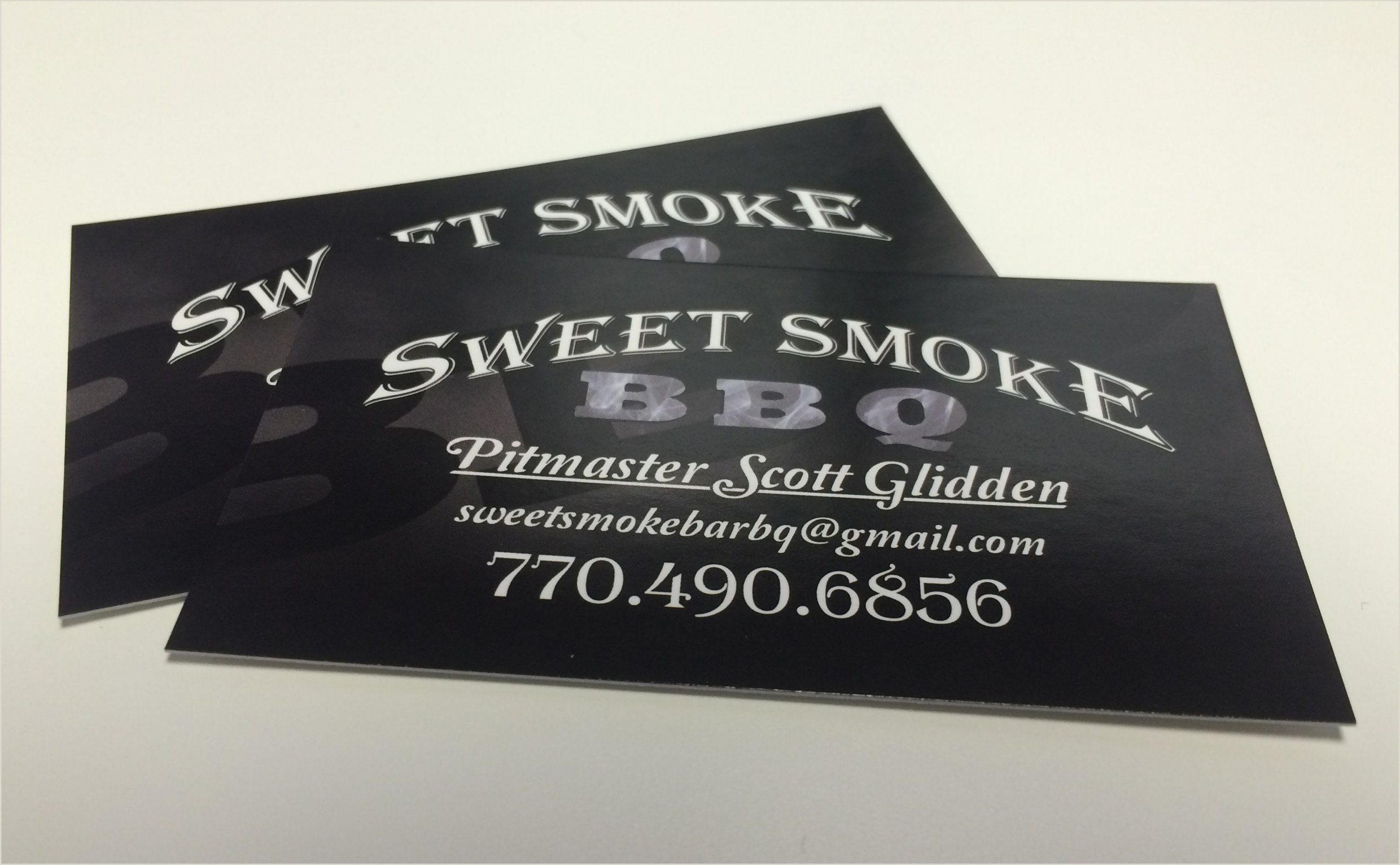 Business Cards Local Cards For A Local Bbq Pany
