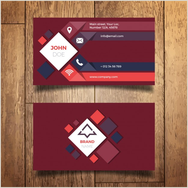 Business Cards Modern Free Vector