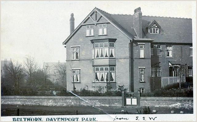 Business Cards Shaped Like A House Belthorn Postcard No 6 Davenport Stockport History