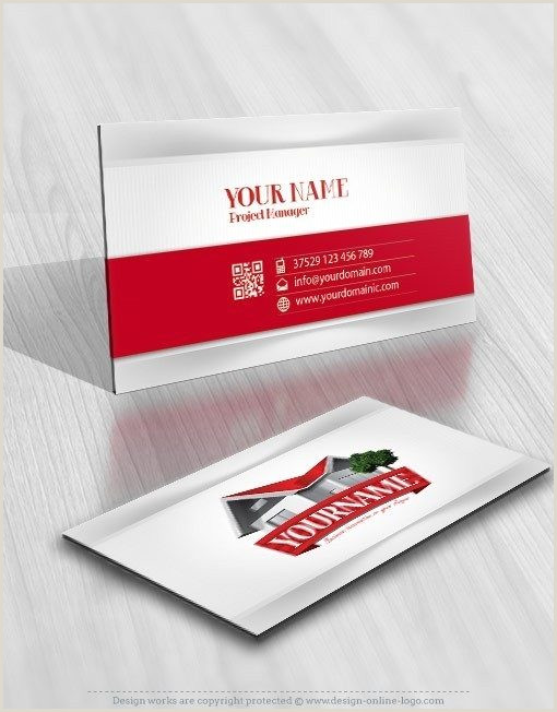 Business Cards Shaped Like A House Exclusive Design House Realty Logo Patible Free Business Card