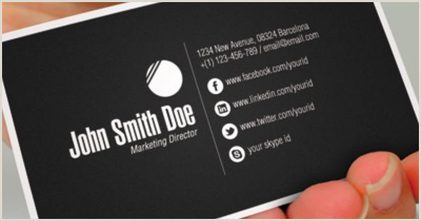 Business Cards Social Media Dribbble Professional Business Card