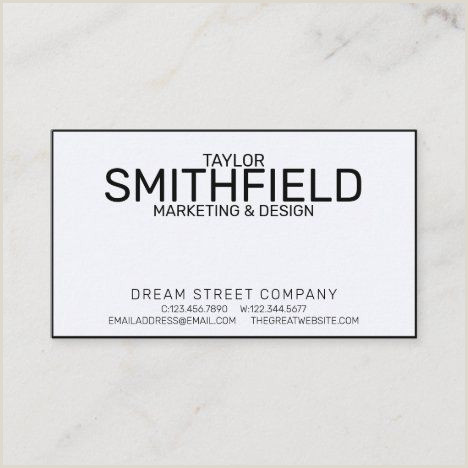 Business Cards Social Media Simple Modern Trendy Corporate Business Card