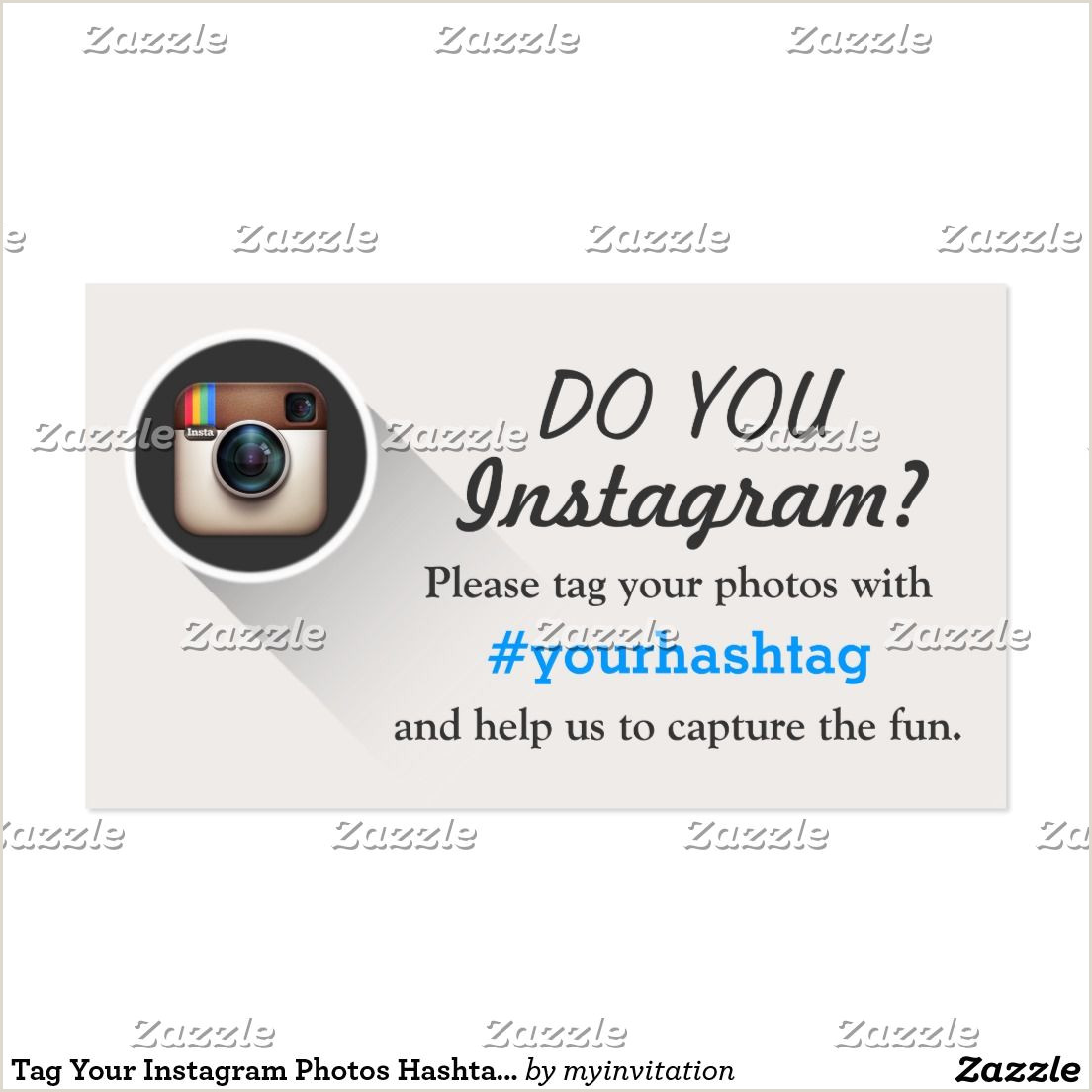 Business Cards Social Media Tag Your Instagram S Hashtag Business Cards