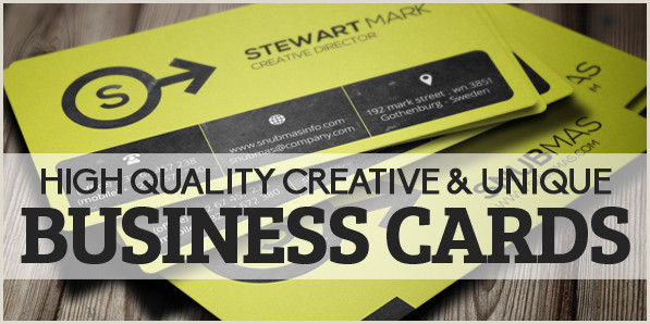 Business Cards Unique Image On Each Card 29 High Quality Creative & Unique Business Cards