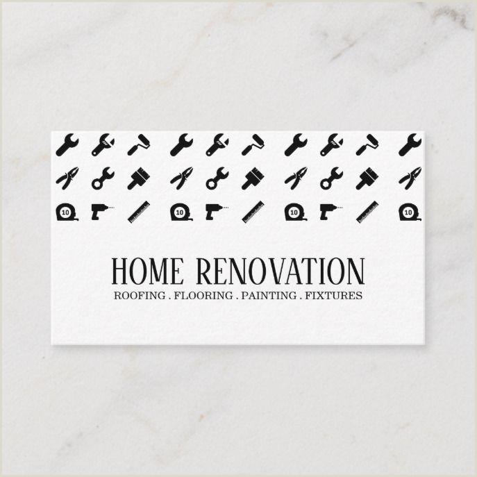 Business Cards Unique Renovation Home Renovation Construction Business Card