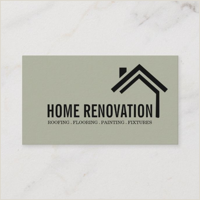 Business Cards Unique Renovation House Home Remodeling Renovation Construction Business Card