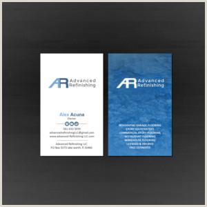 Business Cards Unique Renovation Jeremy Golob Epoxy Flooring Contractor Business Card