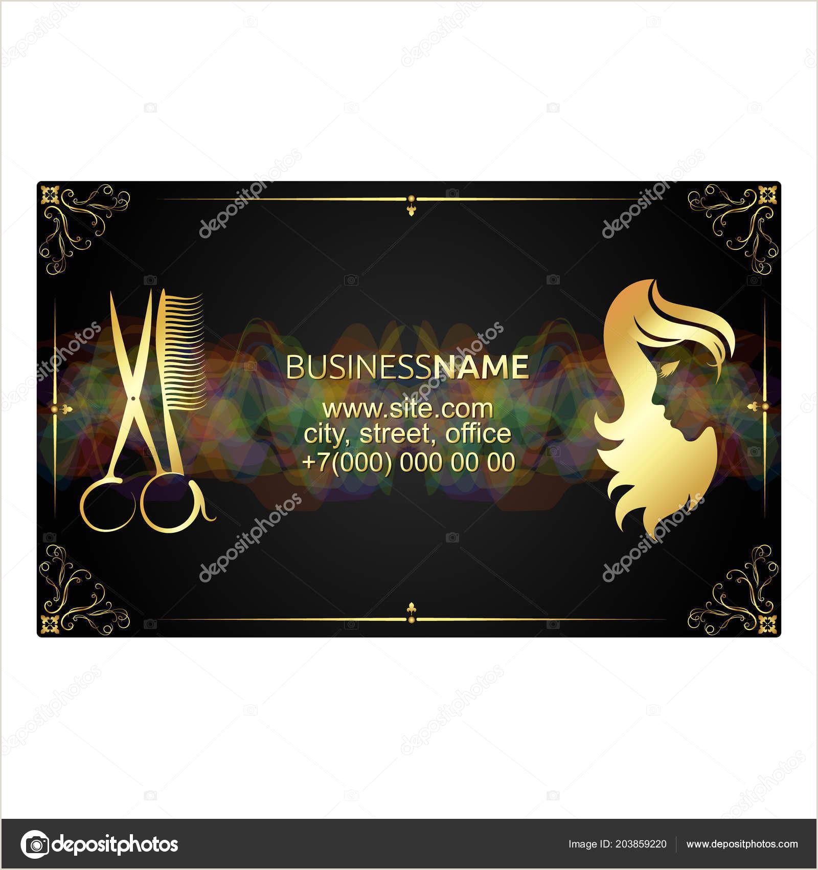 Business Cards Unique Renovation Jeremy Golob Golden Unique Business Card For Beauty Salon Concept