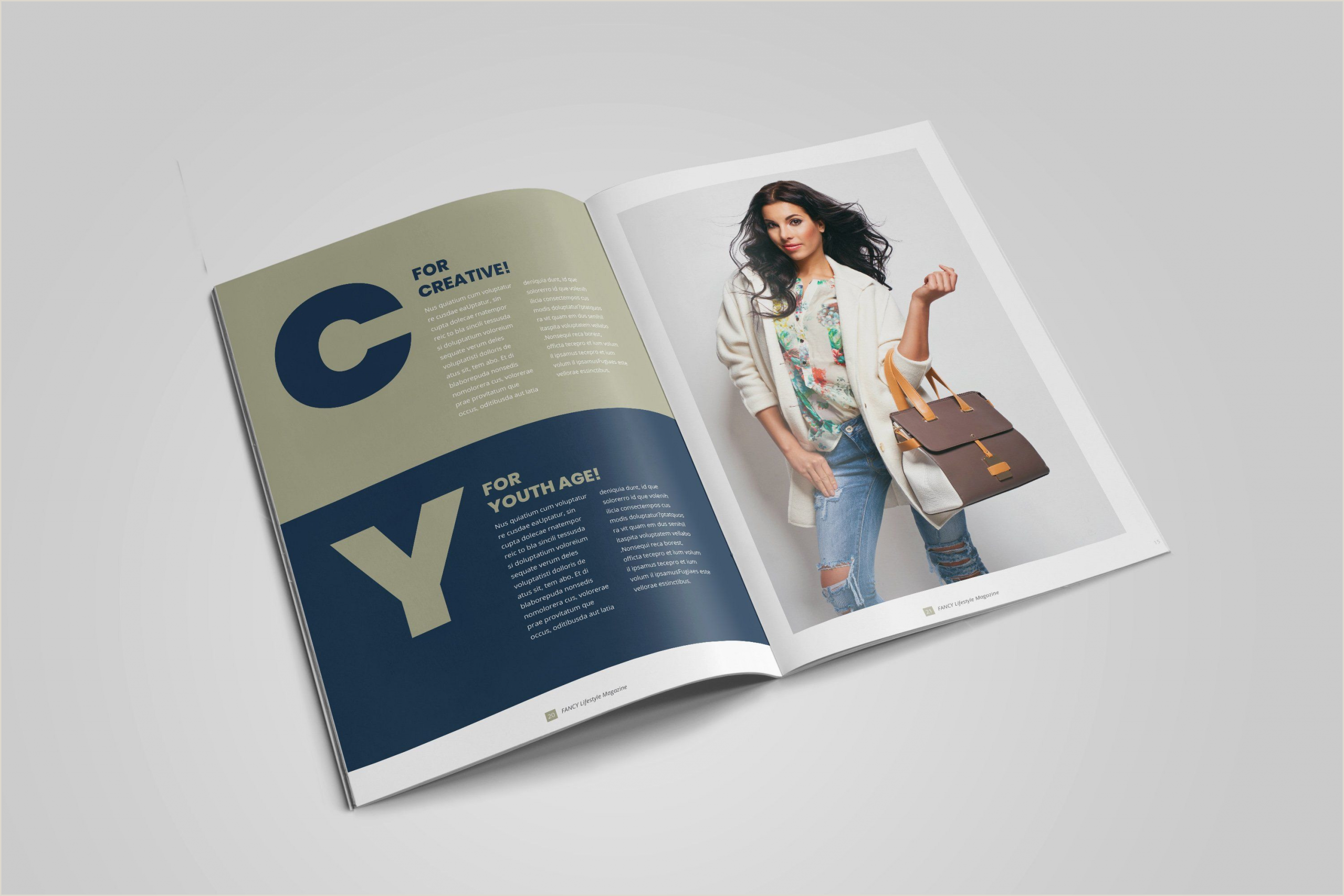 Business Cards Unique Style Fashion Lifestyle Magazine Lookbook In 2020