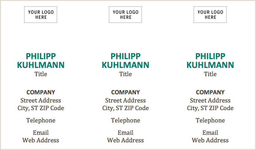 Business Cards Using Word Free Business Card Template With Word