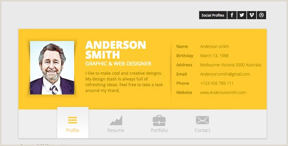 Business Cards Website HTML Business Card Website Templates From Themeforest