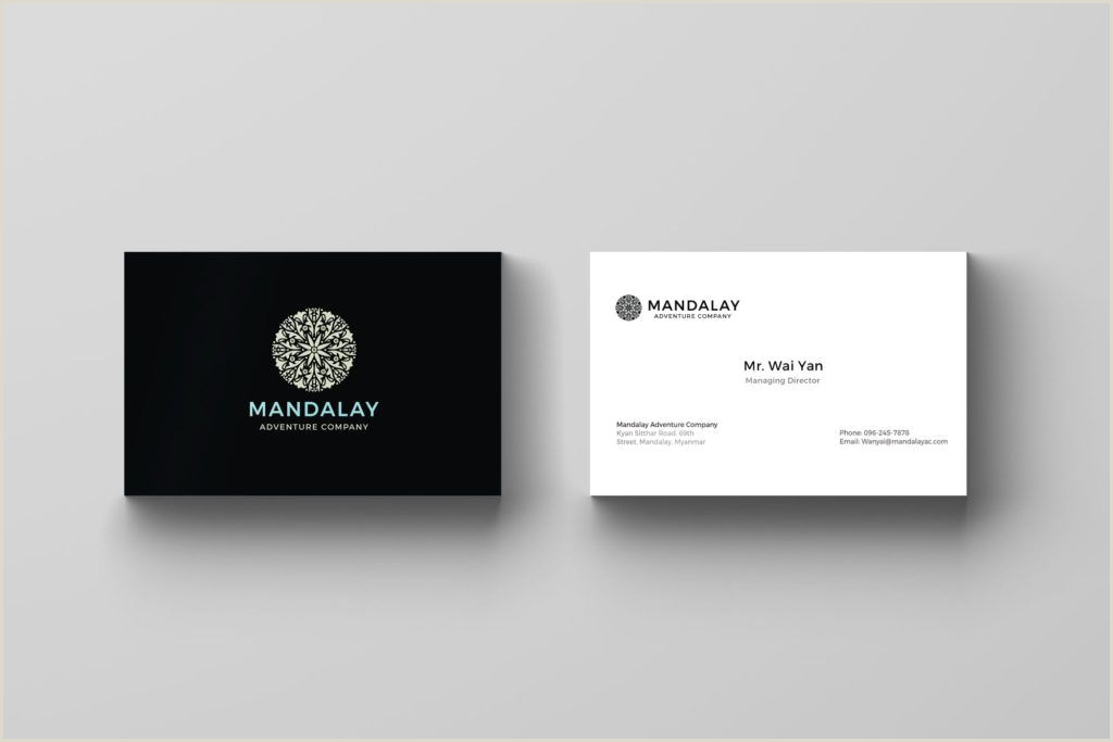 Business Cards With Photo And Logo Asean Business Card Design