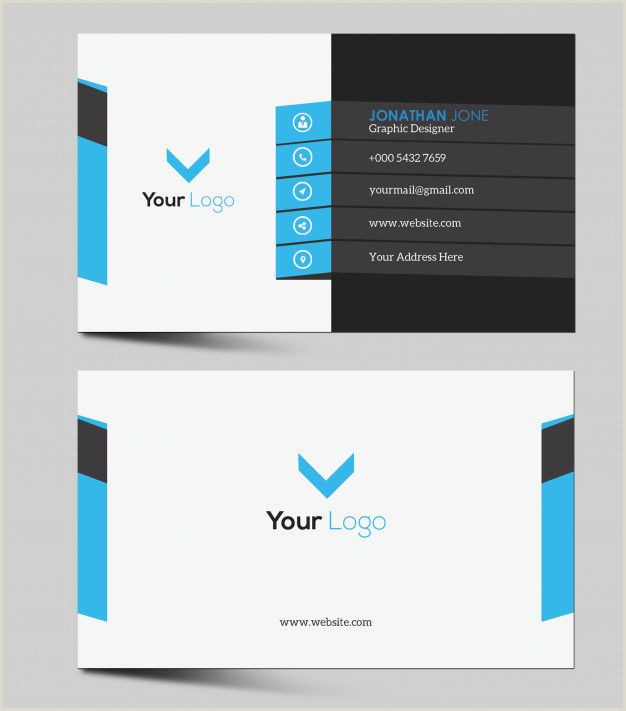 Business Cards With Photo And Logo Corporate Black Business Card