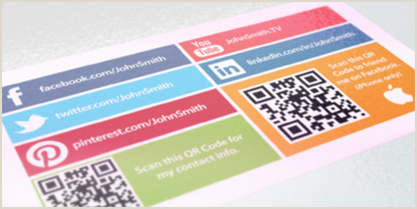 Business Cards With Social Media 15 Stylish Social Media Business Cards Designs