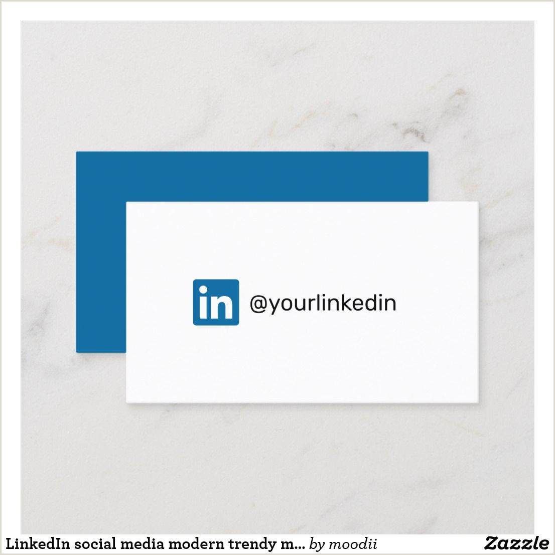 Business Cards With Social Media Linkedin Social Media Modern Trendy Marketing Calling Card