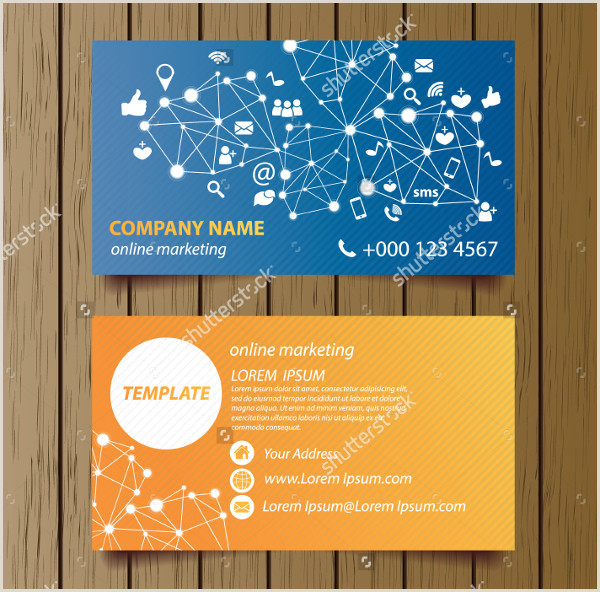 Business Cards With Social Media Social Media Business Card Template 39 Free & Premium
