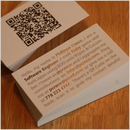 Business Cards With Unique Codes 50 Best Examples Qr Code In Business Card