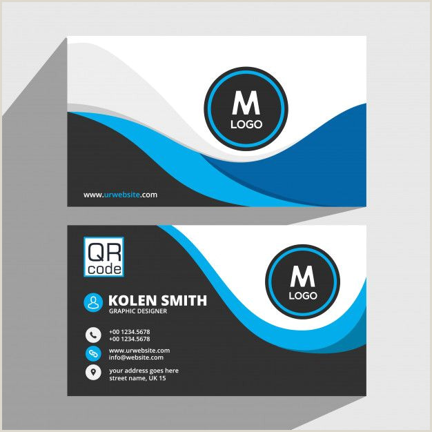 Business Cards With Unique Codes Business Card Template Premium Vector