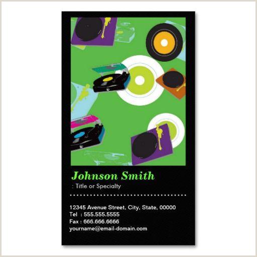 Business Cards With Unique Codes Pub Dj Cool Disc Jockey Mixer Deck Qr Code Business Card