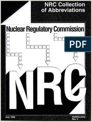 Business Crds Abbreviations And Acronyms Nureg 0544