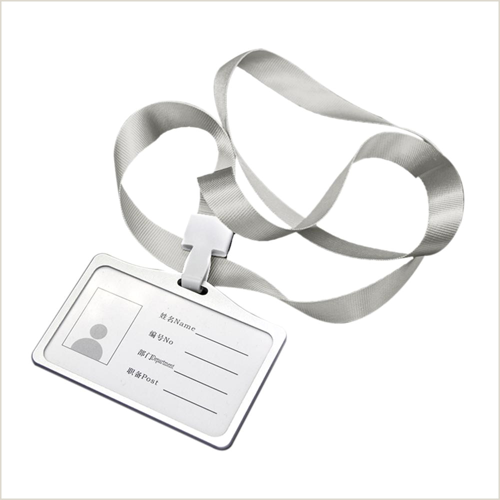 Business Name On Card 2020 Horizontal Transverse Aluminum Alloy Id Name Card Case Business Work Card Badge Holder With Lanyard For Hospitals Factories From Qiananshien $38