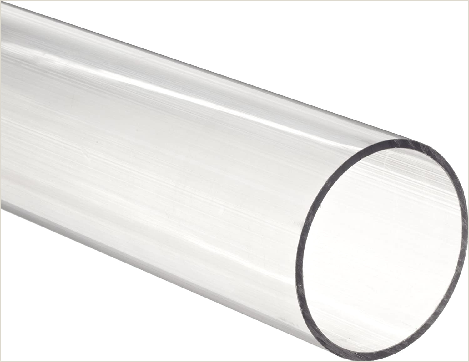 """Business Name On Card Clear Polycarbonate Tubing 1"""" Od 3 4"""" Id 1 8"""" Wall Thickness 6 Length"""