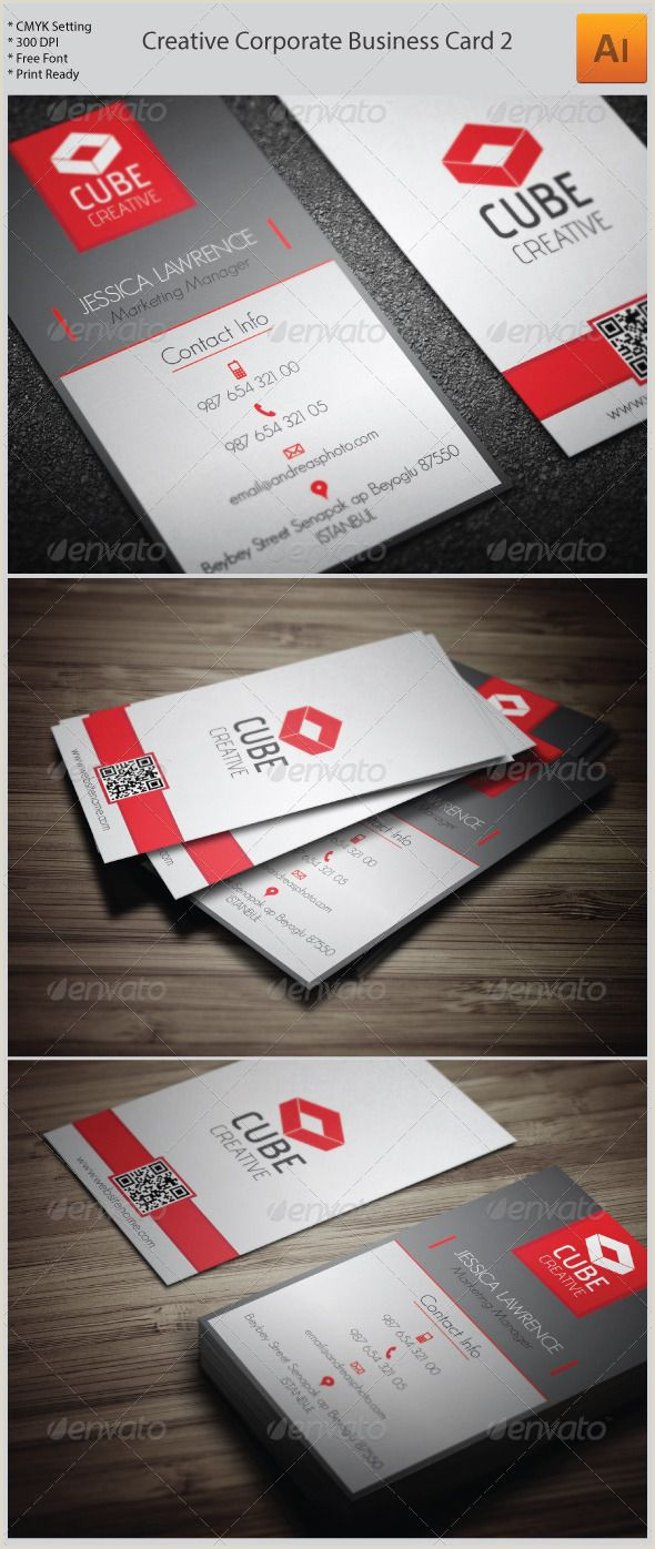 Business Name On Card Creative Corporate Business Card 2