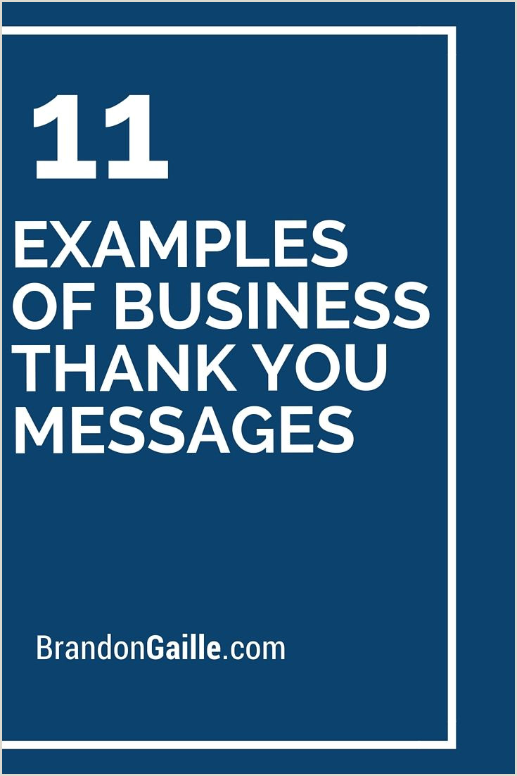 Business Thank You Card Examples 13 Examples Of Business Thank You Messages
