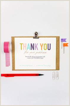 Business Thank You Card Examples Business Thank You 10 Ideas On Pinterest