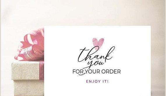 Business Thank You Card Examples Thank You Card Thank You for Your order Tag Thank You for
