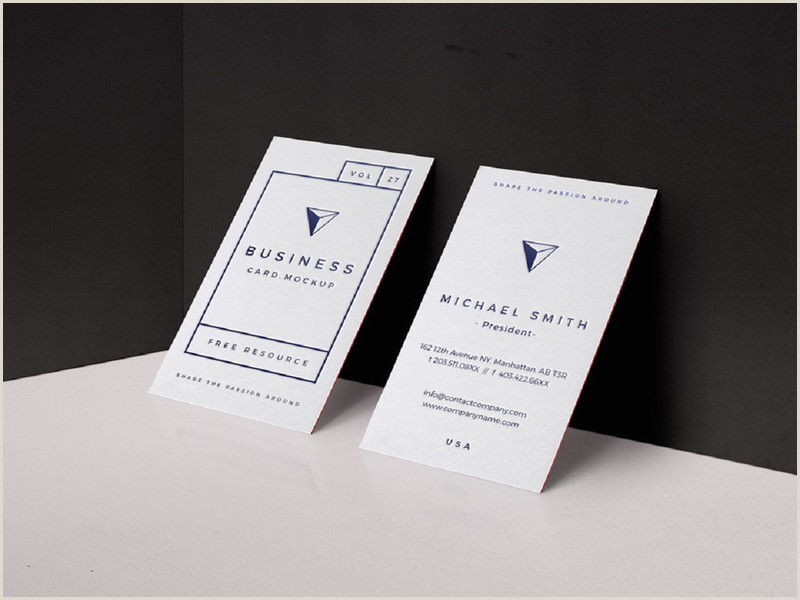 Businesss Cards Businees Template Design With Business Team Free Psd