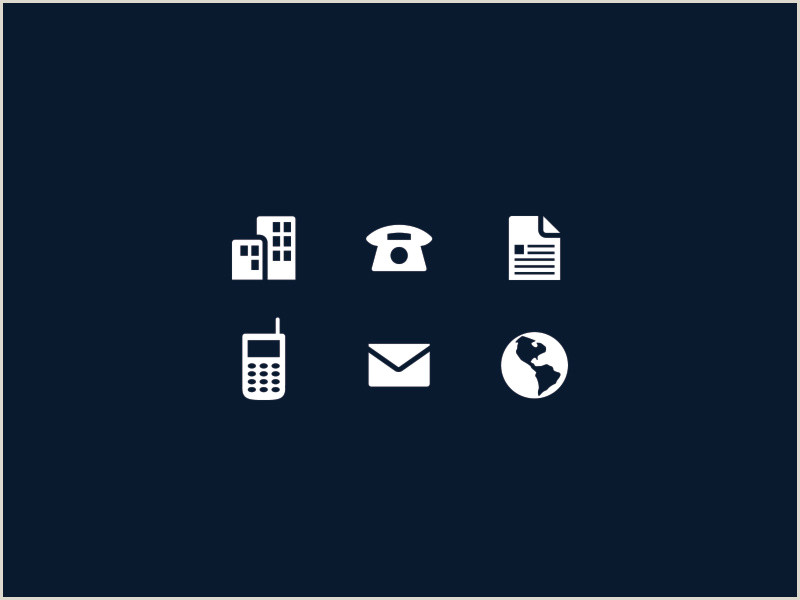 Businesss Cards Email Icon For Business Card At Vectorified