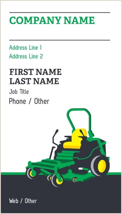 Businesss Cards Lawn Mower Repair Business Cards