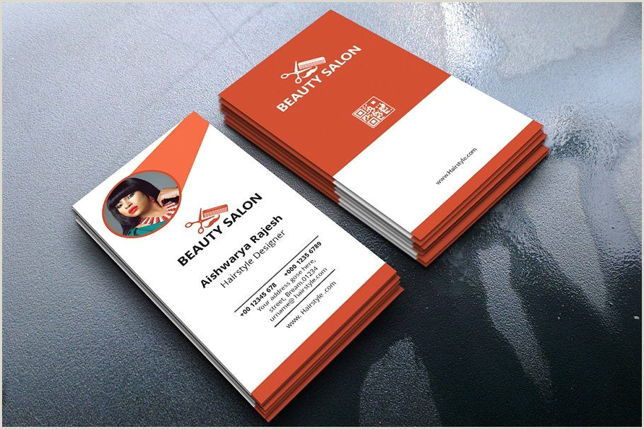 Bussniess Cards Portrait Business Card In 2020