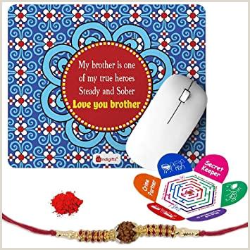 Buy Power Business Card Indi Ts Rakshabandhan Gifts For Brother Love You Bro My True Hero Printed Mouse Pad 8 5×7 Inches Rudraksha Rakhi Roli & Greeting Card Rakhi For