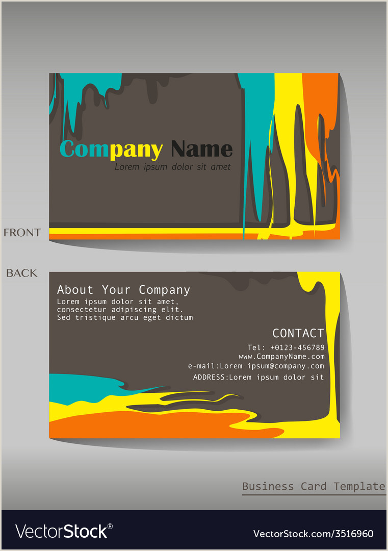 Calling Cards Designs A Colourful Calling Card Vector Image