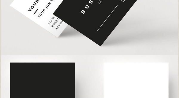 Calling Cards Designs Professional and Minimal Business Card Mockup