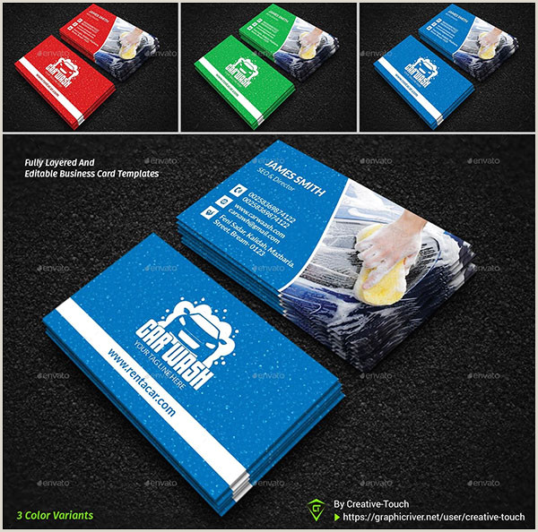 Car Wash Best Business Cards 40 Car Wash Business Card Templates Free Psd Indesign