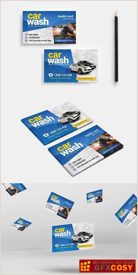 Car Wash Best Business Cards Car Wash Business Card Free Download Shop Vector