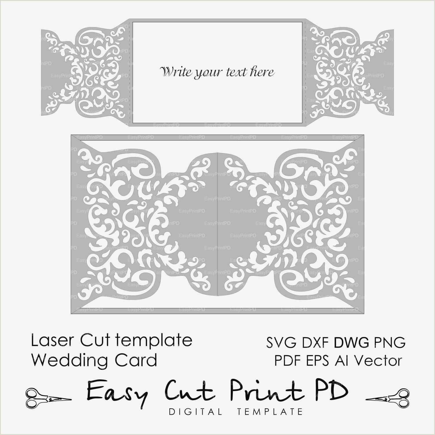Card Examples Nikah Invitation Cards Template