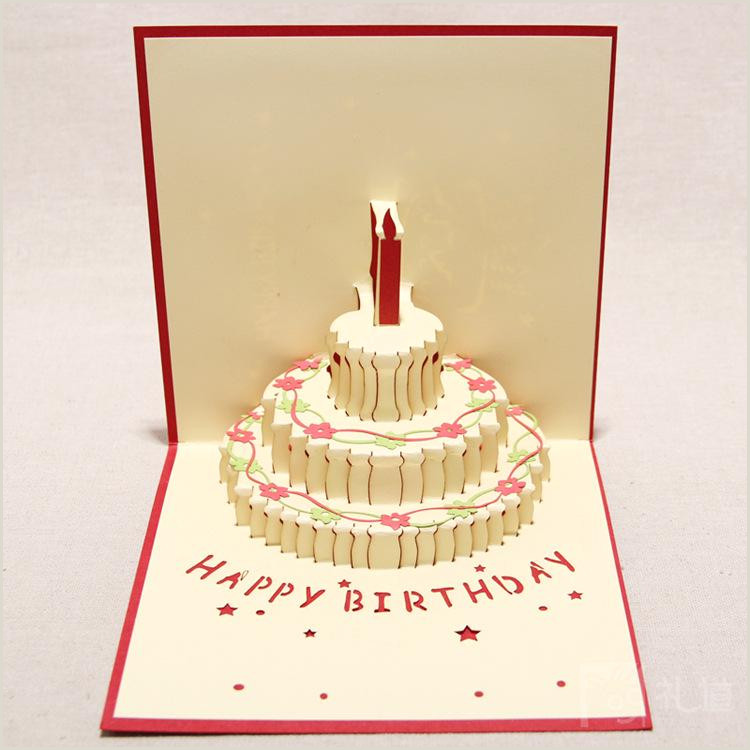 Card Layout Ideas Off Handmade Kirigami & Origami 3d Pop Up Birthday Cards With Candle Design For Birthday Party Set 10 Best Greeting Cards Birth Cards From